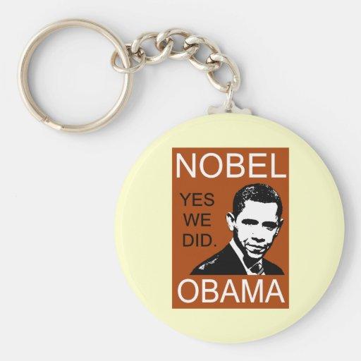 Premio Nobel de la Paz Obama Llavero Personalizado