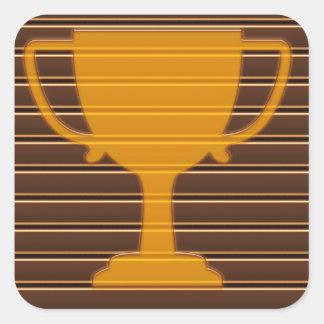 Premio NVN698 de la taza del trofeo de la raya de  Pegatinas Cuadradas