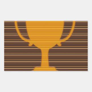 Premio NVN698 de la taza del trofeo de la raya de  Rectangular Pegatinas