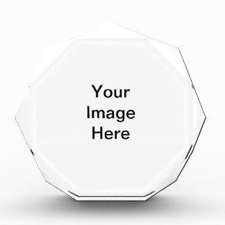 Premio octagonal de acrílico adaptable