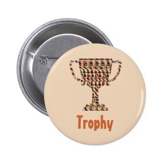 PREMIO: Oro grabado vintage Pin Redondo De 2 Pulgadas