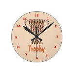 PREMIO: Oro grabado vintage Relojes De Pared