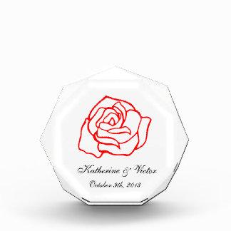 Premio personalizado del rosa
