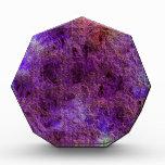 Premio púrpura violeta abstracto
