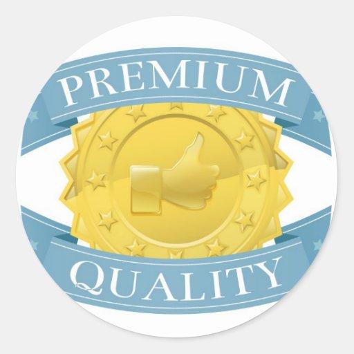 Premio superior de la calidad pegatina redonda