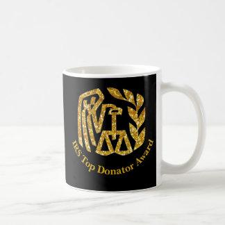 Premio superior del donador del IRS Taza De Café
