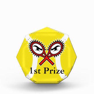 Premio único del trofeo del tenis para los torneos