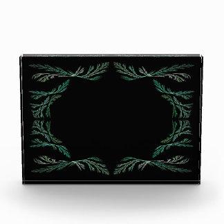 Premio verde del fondo de la frontera del fractal