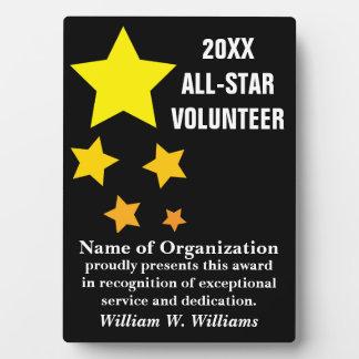 Premio voluntario All-star del reconocimiento del Placas Para Mostrar