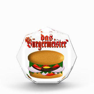Premios de acrílico del octágono de Burgermeister