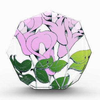 Premios del acrílico con arte de la flor del lirio