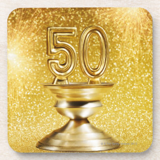 Premios del oro posavasos de bebida