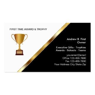Premios y tarjetas de visita del trofeo