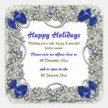 Premisas de oficina del navidad cerradas a paz calcomanías cuadradases