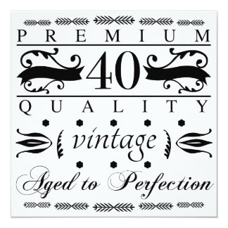 Premium 40th Birthday Card