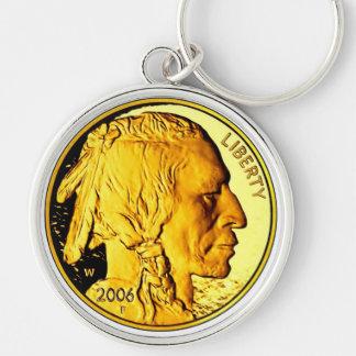 Premium $50 Gold Piece Key Chain