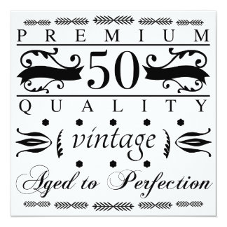 Premium 50th Birthday Card