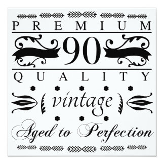 Premium 90th Birthday Card