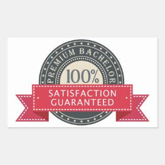 Premium Bachelor Rectangular Sticker