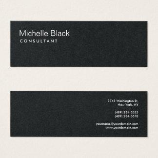 Premium Black Modern Consultant Minimalist Mini Business Card
