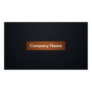 Premium Bronze Slit Effect Business Card