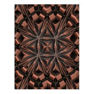 Premium design copper ornament postcard