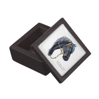 Premium Gift Box, Black Peruvian Horse head