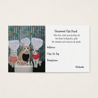 Premium Gourmet Cat Food Business Card