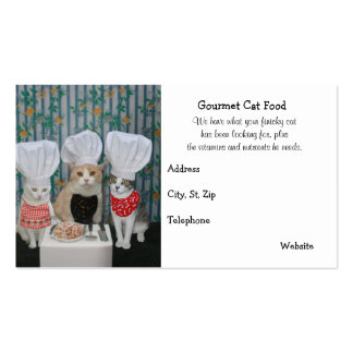 Premium Gourmet Cat Food Double-Sided Standard Business Cards (Pack Of 100)