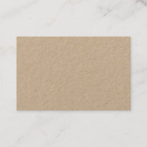 Premium Kraft European Business Card