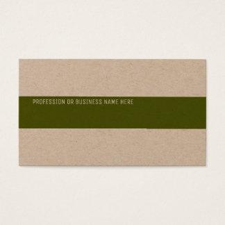 premium kraft paper with a green stripe business card