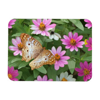 Premium Magnet Butterfly with Pink Flowers