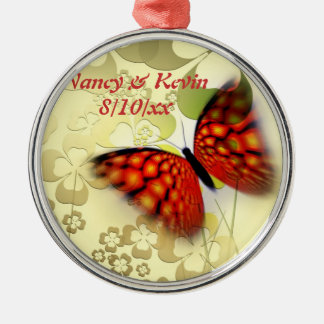 Premium Metal Round Butterfly Ornament