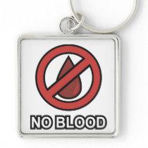 Premium NO BLOOD Button Keychain