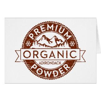 Premium Organic Adirondack Powder Card