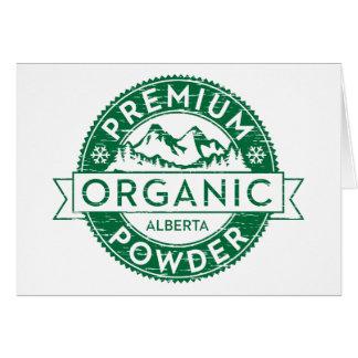 Premium Organic Alberta Powder Card