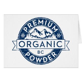 Premium Organic British Columbia Powder Card