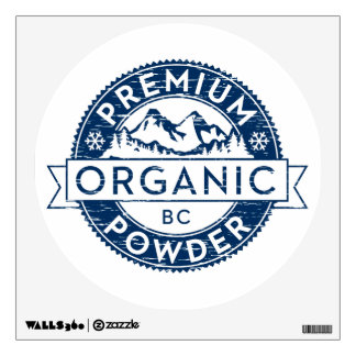 Premium Organic British Columbia Powder Wall Decal