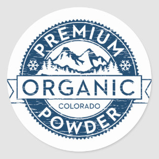 Premium Organic Colorado Powder Sticker