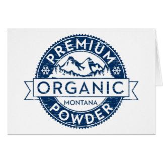 Premium Organic Montana Powder Card