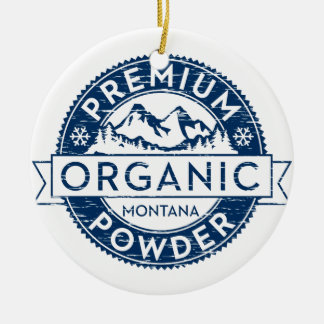 Premium Organic Montana Powder Christmas Tree Ornaments