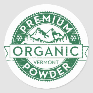 Premium Organic Vermont Powder Sticker