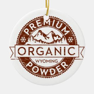Premium Organic Wyoming Powder Christmas Tree Ornament