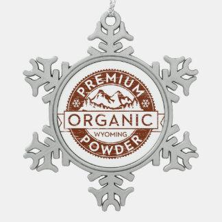 Premium Organic Wyoming Powder Ornament