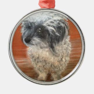 """Premium ornamento de redondo """" Portrait perro """""""