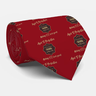 Premium Quality 100th Birthday Tie