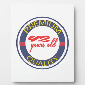 Premium quality 42 years old plaque