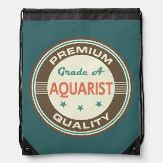 Premium Quality Aquarist (Funny) Gift Drawstring Backpack