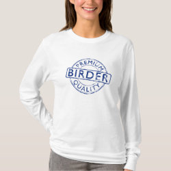 Women's Basic Long Sleeve T-Shirt with Premium Quality Birder design