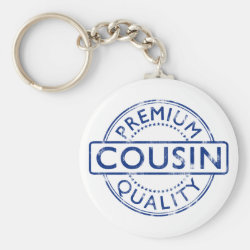 Basic Button Keychain with Premium Quality Cousin design